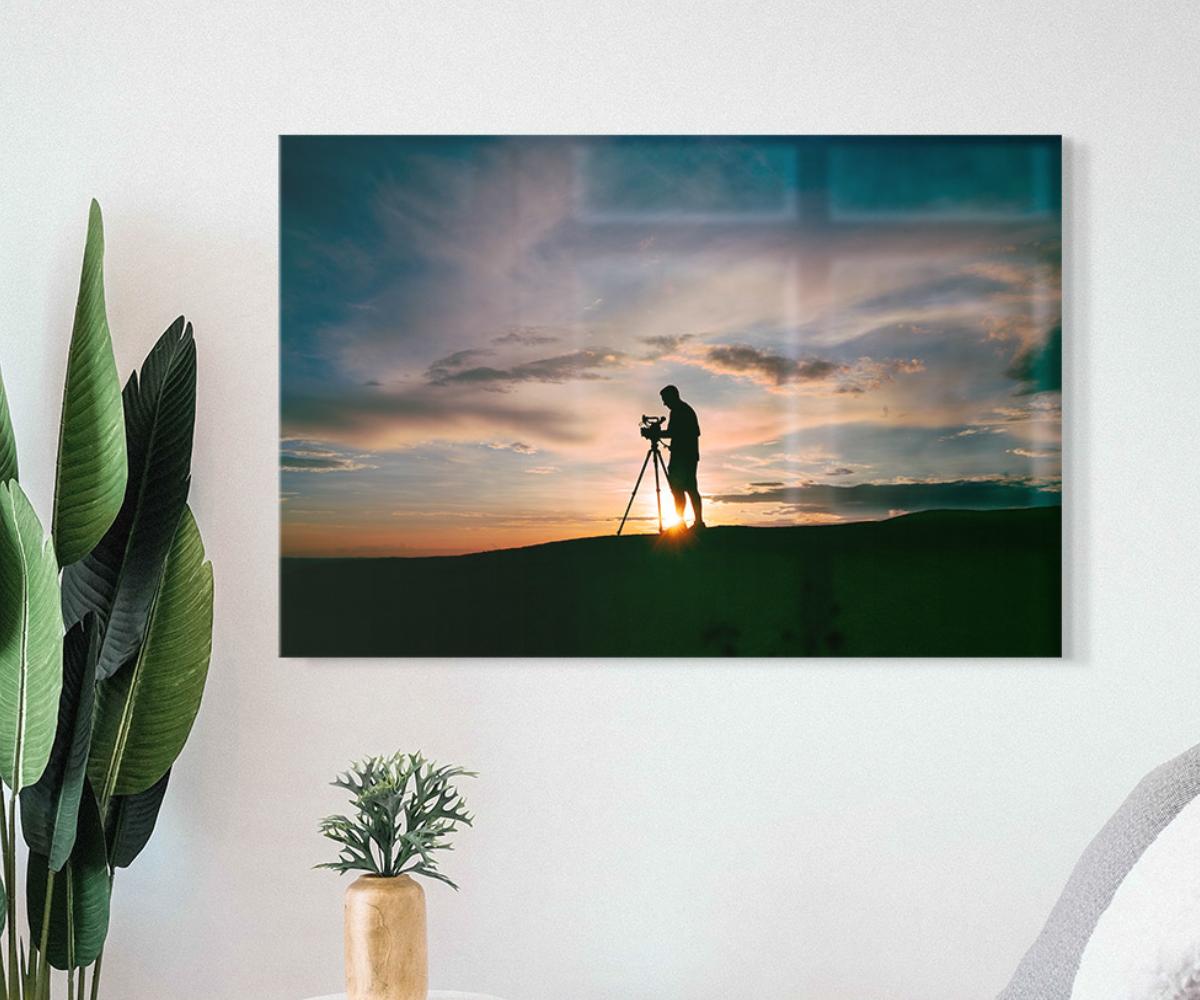 Glossy photo print on acrylic glass