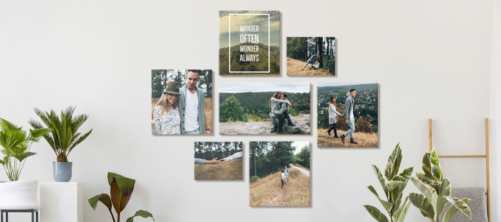Why our canvas prints are some of the best. Collage of romantic photo prints.
