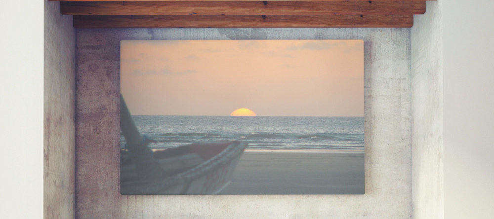 Do cheap canvas prints mean bad canvas prints. Large format canvas print with sunset photo.