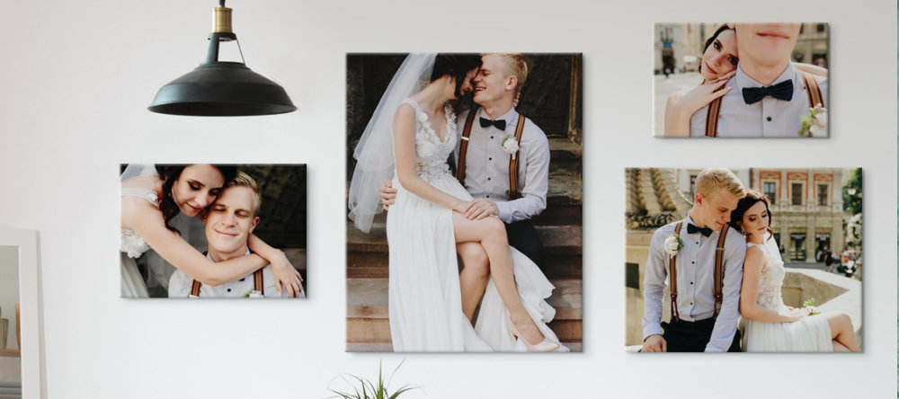 Do cheap canvas prints mean bad canvas. Wedding canvas prints wall art collage