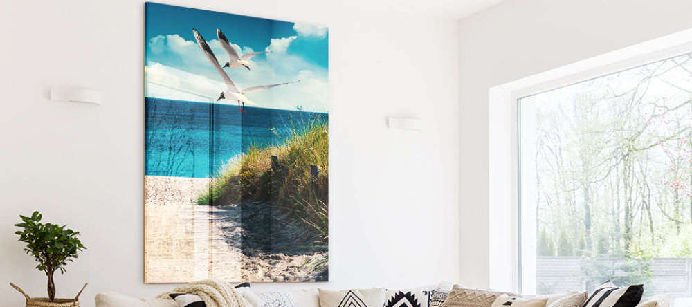 turning photos into acrylic prints beach photo