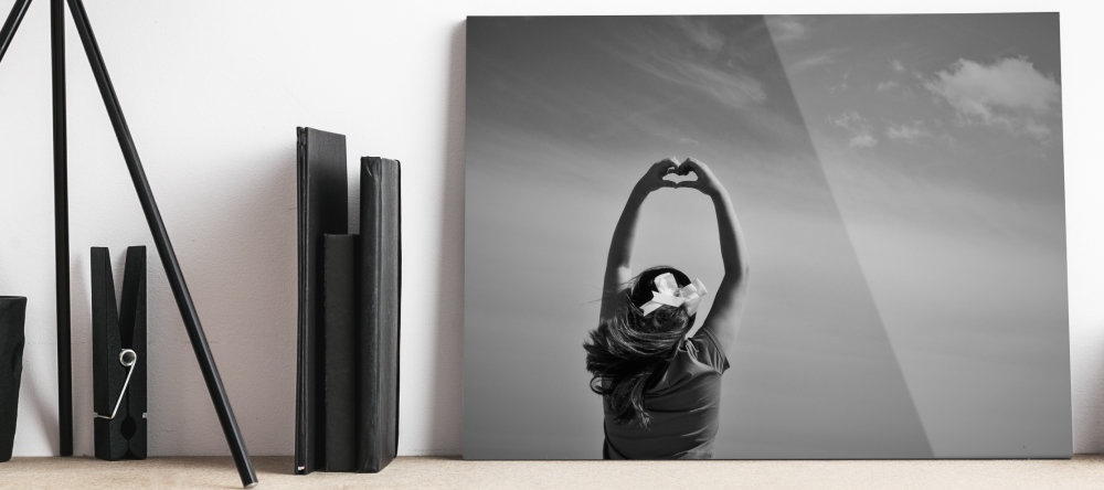 turning photos into acrylic prints monochrome art photo