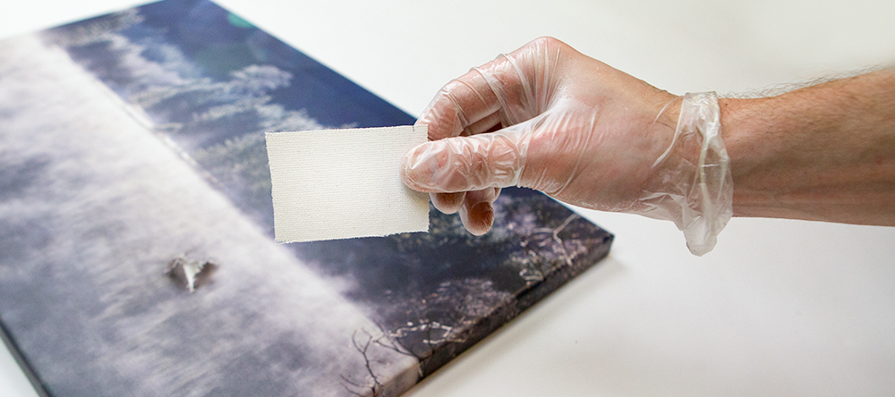 How to fix a ripped canvas. Canvas patch to seal hole on canvas