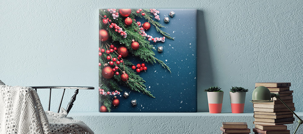 Christmas Gifts 2020: 4 Reasons to Choose Christmas Wall Art. Canvas Print with Christmas Decorations.