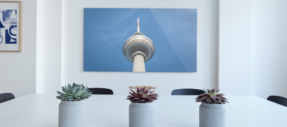 photo aluminum prints berlin tower photo print