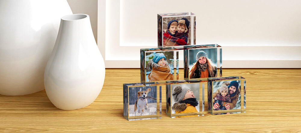 What are MixBlox? Personalized MIXBLOX cubes with family photos.