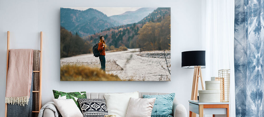 Choosing Large Canvas Prints - How to Get It Right. Beautiful large-scale canvas print with travel photo.