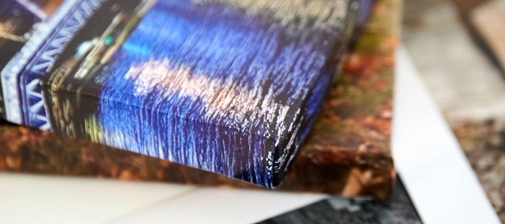 10 Common Myths About Personalized Canvas Prints: Part II. Close-up of gallery-wrapped canvas print.
