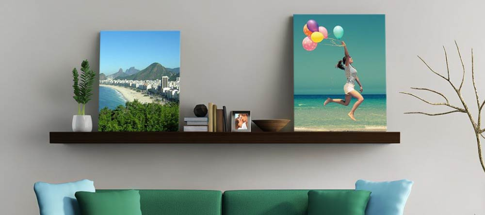 Best Ideas for Canvas Wall Art. Beautiful medium size canvas prints on shelf.