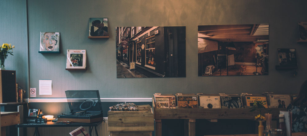 Why Should I Buy Canvas Prints. Atmospheric Vintage Interior with Canvas prints.