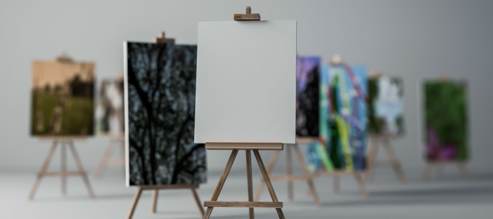 What is the difference between print and poster. Canvas on easels