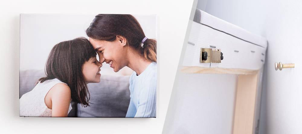 How to hang your canvas print. The complete guide. Small format canvas hanged.n