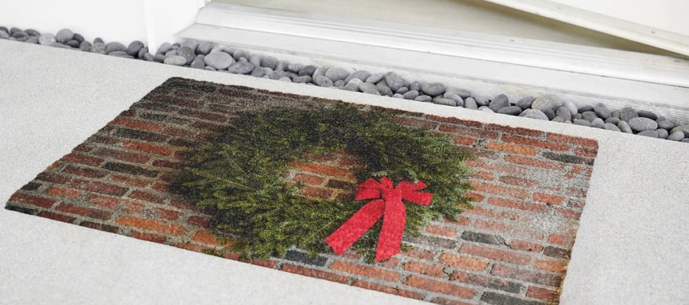 Unique Christmas Gifts for Him. Personalised photo doormat.