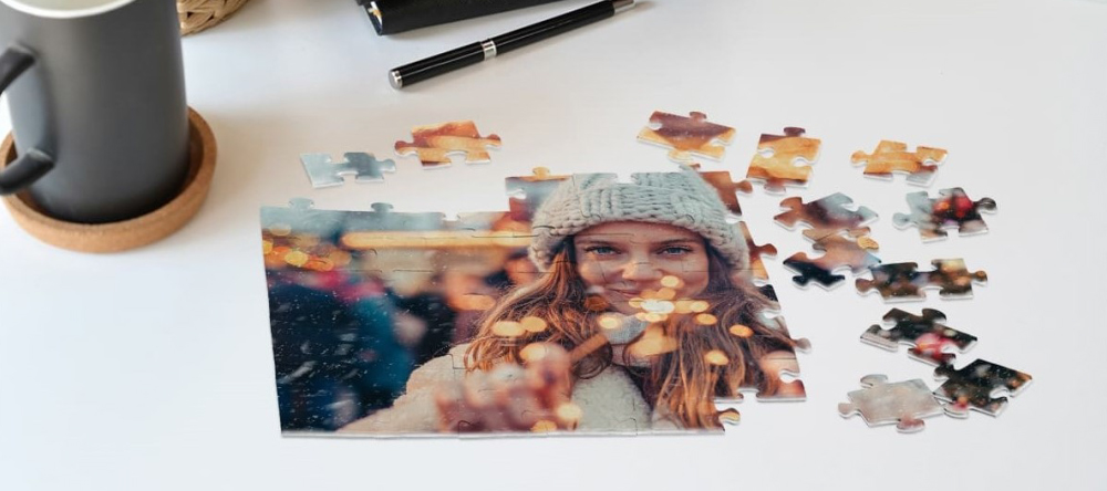 Unusual stocking fillers. Personalised Christmas photo puzzle.