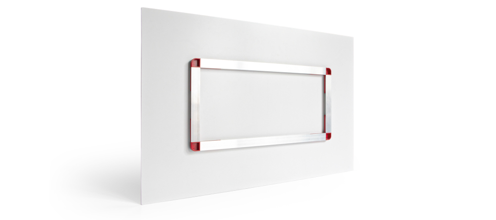 How to hang aluminium prints. Photo of aluminium backframe.