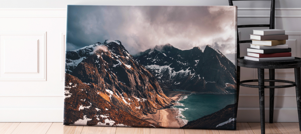 Should I Buy Canvas Prints from My-Picture.co.uk. Large size photo canvas print with mountains.