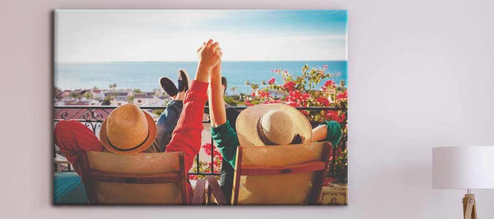 Should I Buy Canvas Prints from My-Picture.co.uk. Beautiiful photo canvas print with couple on vacation.