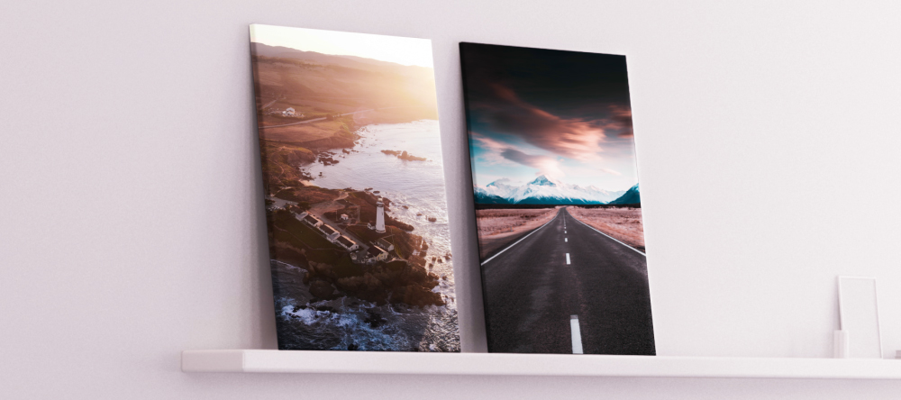 The Difference Between Canvas and Poster Prints: Which Should You Choose? Two canvas prints displayed next to each other.