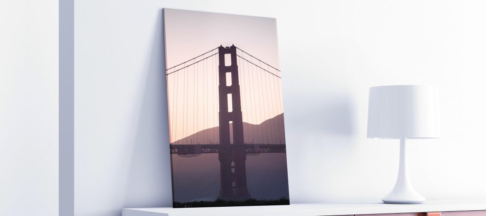 The Difference Between Canvas and Poster Prints: Which Should You Choose? Photo canvas print featuring Golden Gate Bridge.