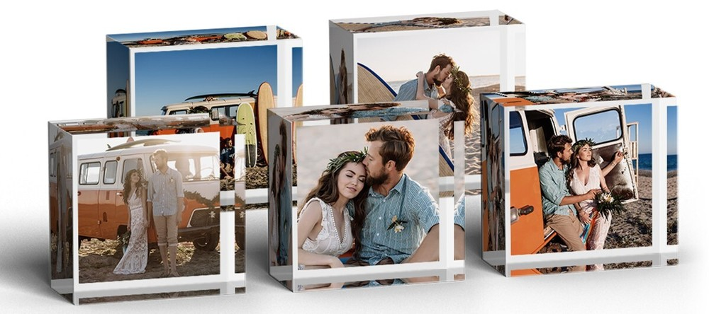 What are MixBlox? Beautiful MIXBLOX photo prints frontal view.