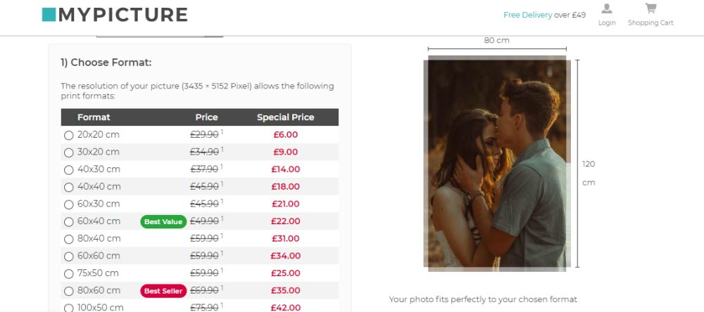 Romantic Canvas Wall Art – How to Do It Right. Canvas print order process on My-Picture.co.uk.