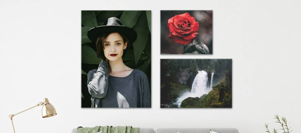 What is a Canvas Print? Canvas Print with Photo of Young Lady.