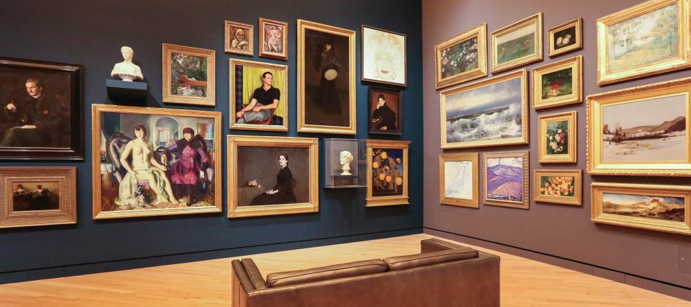 What is a Canvas Print? Paintings displayed in museum.