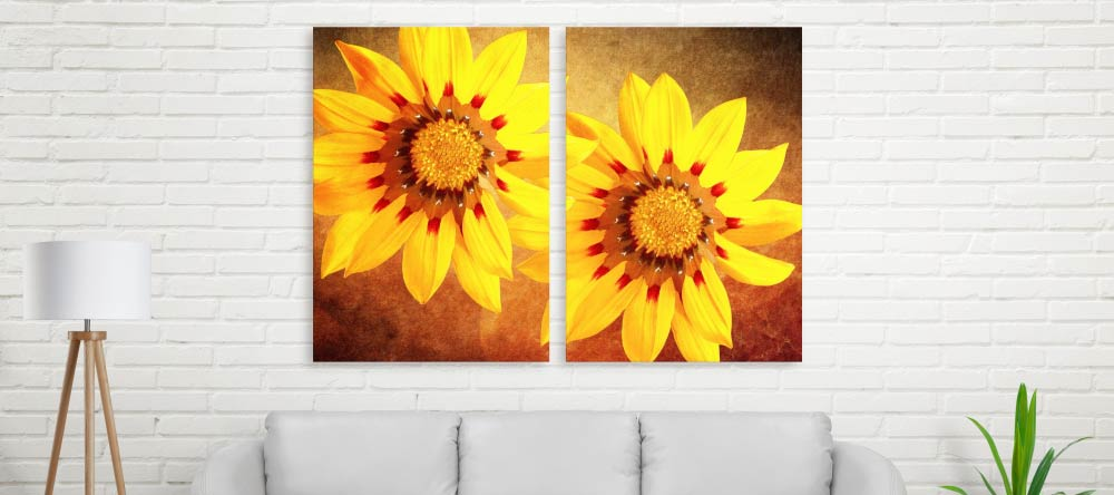How We Get Your Canvas Prints Delivered on Time. Pair of beautiful canvas prints featuring photos of flowers.s.