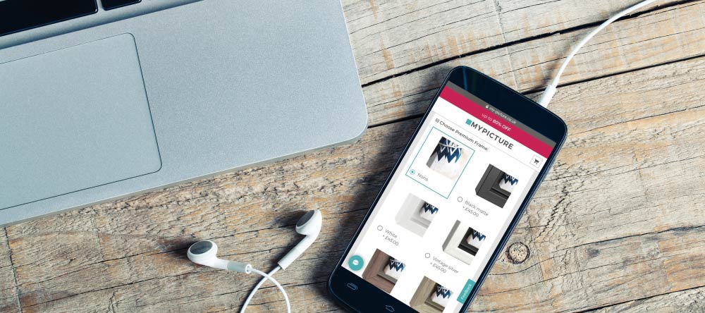 How to Print Pictures from Phone Storage. Customizing photo canvas prints on phone.