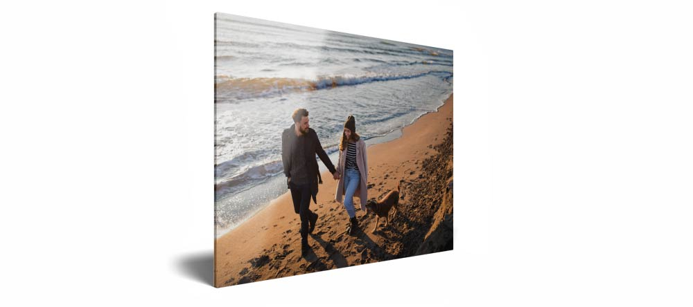 Acrylic vs Canvas Prints: Which is Better? Close up of acrylic photo print against white background.