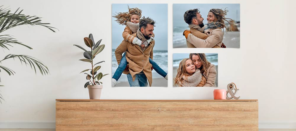 How To Make a Poster from a Picture. Gallery wall with multiple photo poster prints.