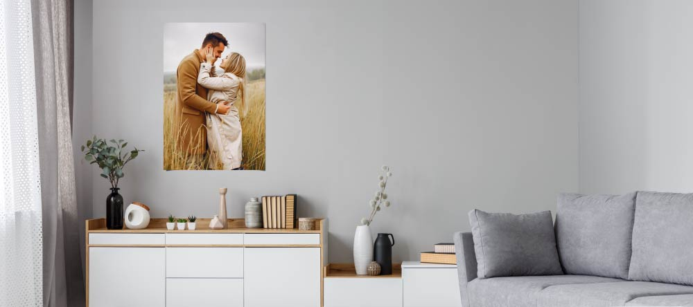 How To Make a Poster from a Picture. Beautiful custom poster in living room.