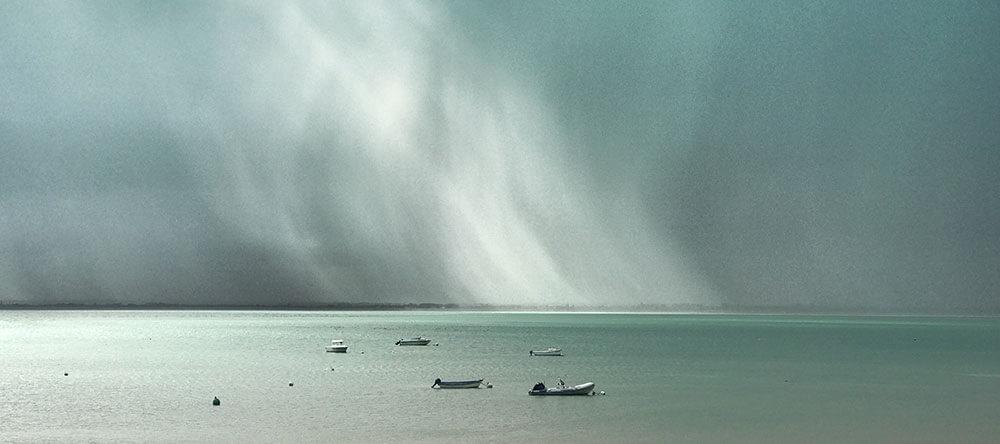 storm in de zee